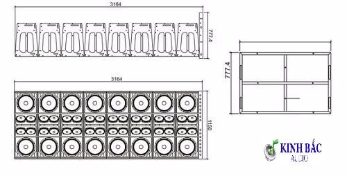 Cấu trúc Loa Array CAF CF-1830