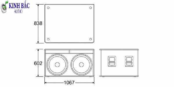 Sơ đồ loa và kích thước vỏ thùng loa JBL SRX 728S