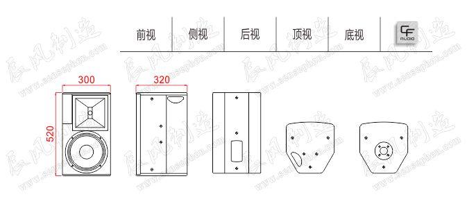 Thiết kế, cấu tạo loa CF TC – 10