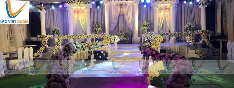 Chỉ cần khâutest dàn loa đám cưới tổng thể cuối cùng là mọi thứ đã sẵn sàng