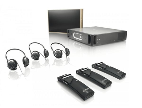 Hệ thống âm thanh hội nghị Bosch Integrus phiên dịch đa ngôn ngữ