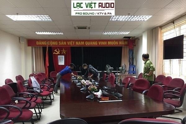 Lắp đặt âm thanh hội nghị cho chi cục thuế TP Bắc Ninh
