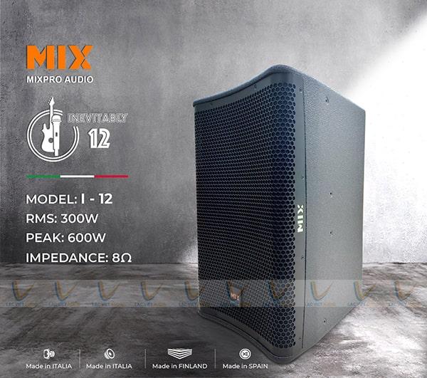 Loa karaoke MIX I-12 có thiết kế đẹp mắt độc đáo