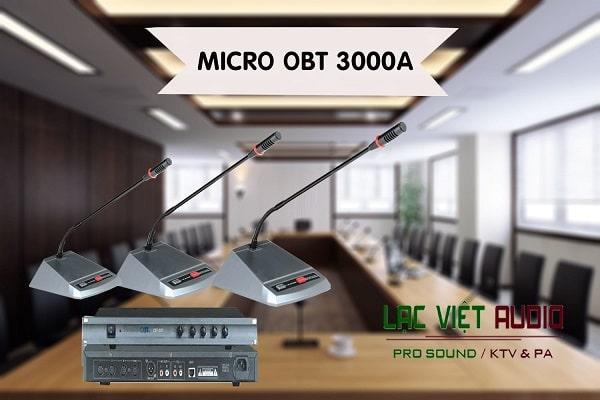 Thiết kế hiện đại sang trọng của mic OBT-3000A
