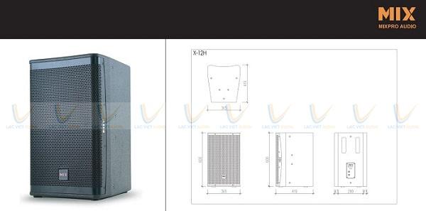Thiết kế loa karaoke MIX X-12H